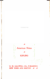 The City of Dreadful Night: American Notes