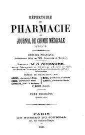Répertoire de pharmacie: Volume13