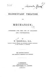 An Elementary Treatise on Mechanics: Intended for the Use of Colleges and Universities