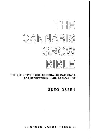 The Cannabis Grow Bible PDF