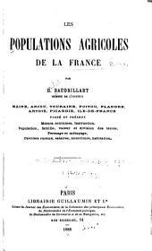 Les populations agricoles de la France