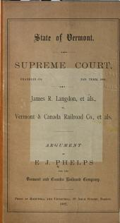 James R. Langdon, Et Als., Vs. Vermont & Canada Railroad Co., Et Als