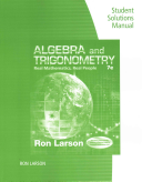 Student Solutions Manual for Larson s Algebra and Trigonometry  Real Mathematics  Real People  7th PDF