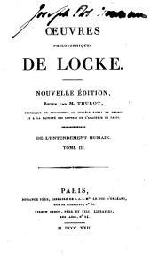 Oeuvres philosophiques de Locke: Volume4