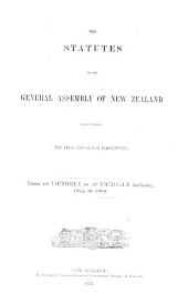 The Statutes of the General Assembly of New Zealand