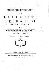 Memorie istoriche di letterati ferraresi