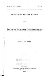 Annual Report of the Board of Railroad Commissioners: Volume 20, Part 1889