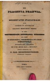 De placenta praevia: dissertatio inauguralis