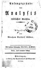 Anfangsgründe der Analysis endlicher Grössen: Der mathem. Anfangsgr. IIIter Theil; Iste Abtheil, Band 3