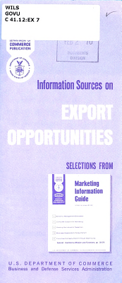 Information Sources on Export Opportunities