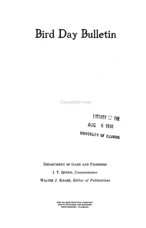 Alabama Bird Day Book PDF