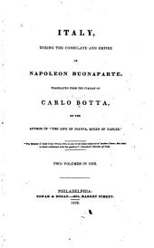 Italy, During the Consulate and Empire of Napoleon Buonaparte