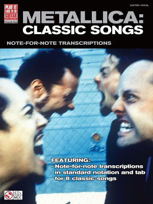 Metallica  Classic Songs for Guitar  Songbook