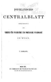 Psychiatrisches Centralblatt: Bände 5-6