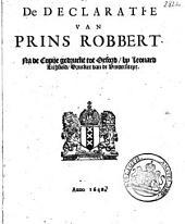 De declaratie van prins Robbert: Volume 1