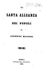 La Santa alleanza dei popoli. [With a portrait.]