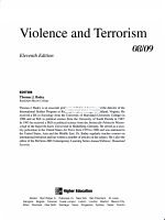 Annual Editions  Violence and Terrorism 08 09 PDF