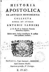 Historia apostolica: ex antiquis monumentis collecta