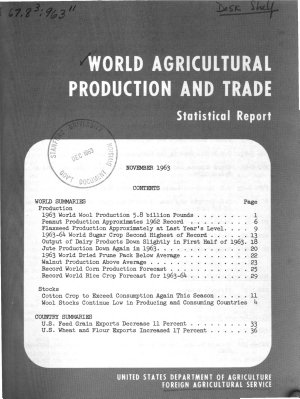 Foreign Crops and Markets