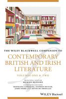 The Wiley Blackwell Companion to Contemporary British and Irish Literature PDF