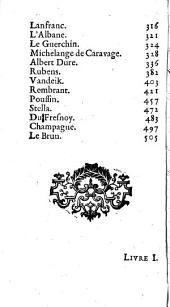 Abregé de la vie des peintres [by R. de Piles].