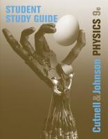Student Study Guide to accompany Physics  9th Edition PDF