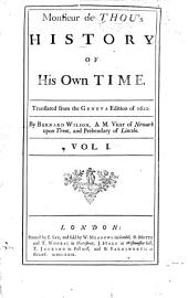 Monsieur de Thou's History of his own time