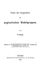 Ueber die Composition der aeginetischen Giebelgruppen