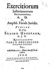 Exercitia Iusitianea: Volume 13