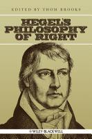 Hegel s Philosophy of Right PDF
