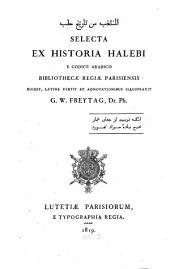 Selecta ex historia halebi