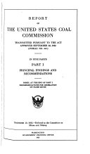 Report of the United States Coal Commission