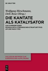 Die Kantate als Katalysator PDF