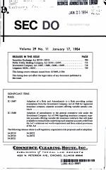 SEC Docket Volume 29.No.1 January 17,1984