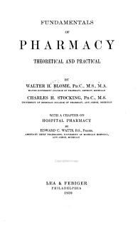 Fundamentals of Pharmacy Book