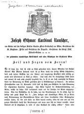 Der gesammten ehrwürdigen Geistlichkeit und allen Gläubigen der Erzdiöcese Wien Heil und Segen vom Herrn! (Hirtenschreiben ... 5.2.1871.)