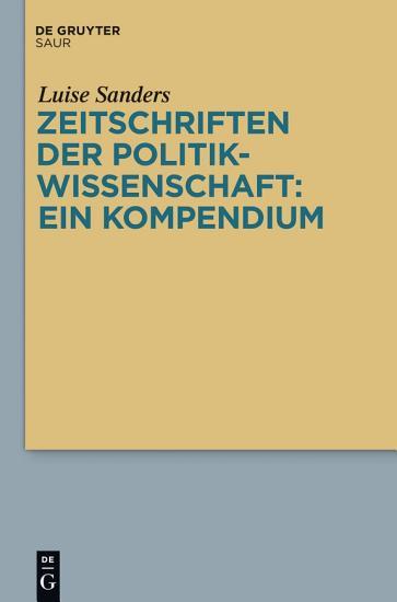 Zeitschriften der Politikwissenschaft  ein Kompendium PDF