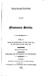 Transactions Of The Missionary Society Book PDF