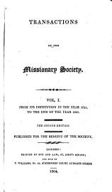 Transactions Of The Missionary Society