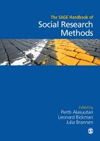The SAGE Handbook of Social Research Methods PDF