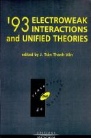 93 Electroweak Interactions and Unified Theories PDF
