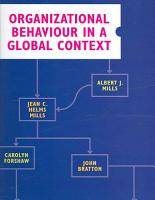 Organizational Behaviour in a Global Context PDF