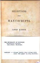 Selections from Manuscripts PDF