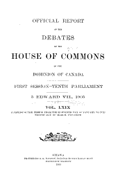 Official Report of the Debates, House of Commons: Volume 1