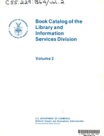 Book Catalog of the Library and Information Services Division  Author title series indexes PDF