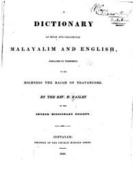 A Dictionary Of High And Colloquial Malayalim And English Book PDF