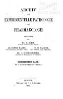 Archiv f  r Pharmakologie und experimentelle Pathologie PDF
