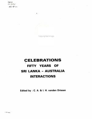 Celebrations  Fifty Years of Sri Lanka Australia Interactions PDF