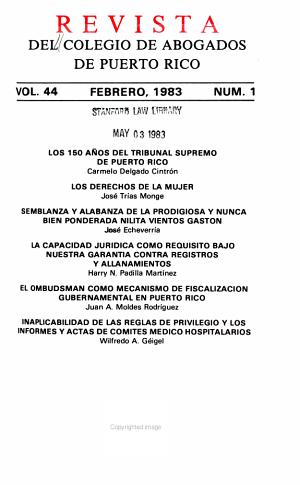 Revista del Colegio de Abogados de Puerto Rico