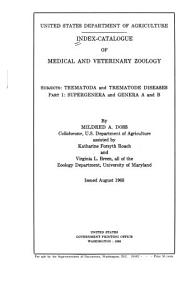 Index catalogue of Medical and Veterinary Zoology  Subjects  Trematoda and Trematode Dieases PDF